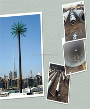 Detailed video description of Camouflaged tree tower disguised antenna artificial palm tree