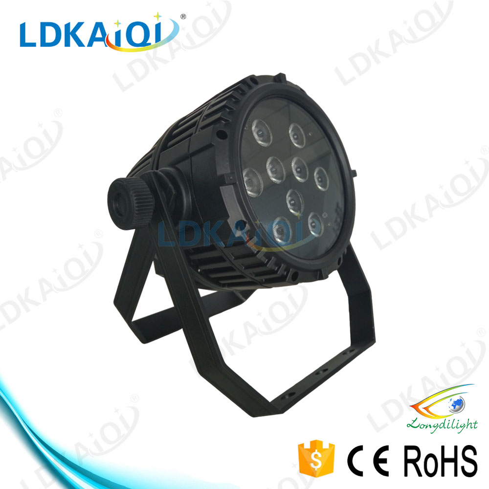 9X10W RGBW 4in1 IP65 wireless battery powered led uplights dmx par light for sale