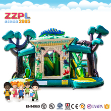 ZZPL Giant Jungle world Amusement Park for kids Commercial Bouncy Castle inflatable playground for sale IAAPA
