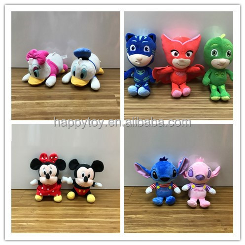 Wholesale Cute Stuffed Soft peluches Stitch custom movie cartoon character plush toy for crane machines
