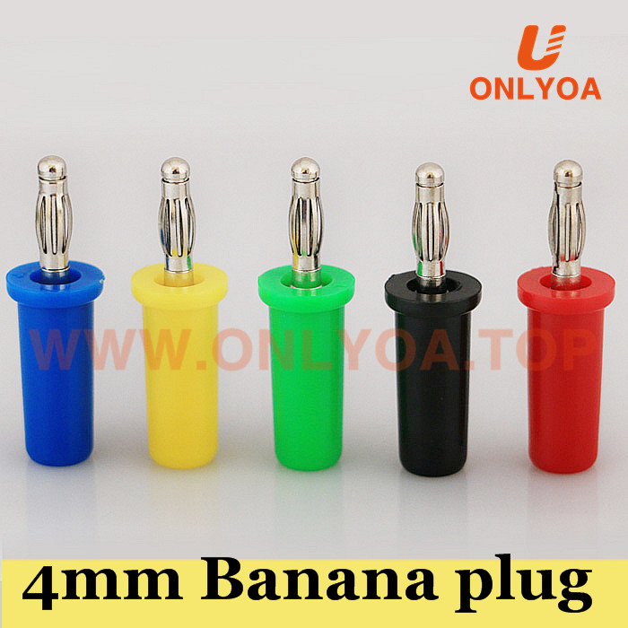 4mm high voltage banana plug connector