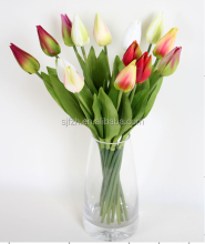 High quality PU tulip bouquet for wedding centerpiece wedding tulip flower