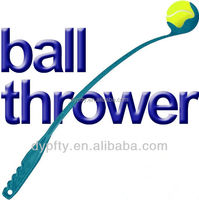 38cm plastic dog tennis ball thrower with one ball
