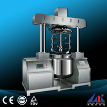 Vacuum homogenizing and emulsifying cosmetic cream making machine