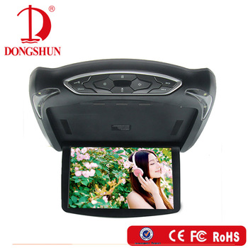 best selling 13.3 inch interchangeable housing ceiling car roof dvd player with fm, wireless game