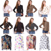 Long Sleeve Latest Fashion Floral Printed Design Women Chiffon Shirt Ladies Blouse & Top