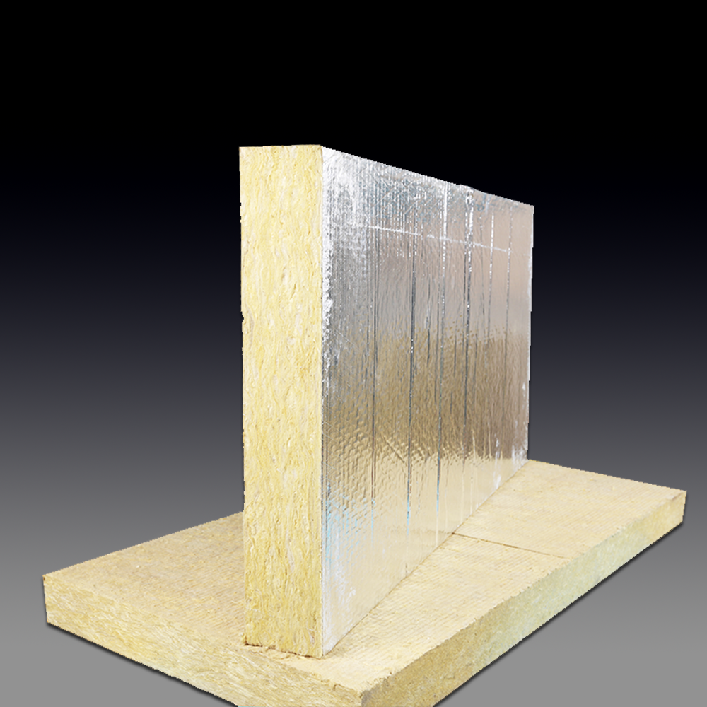 Foil faced roof insulation mineral wool rock wool insulation board