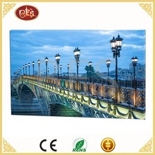 Bridge LED Light Scenery Artwork Image To Canvas painting
