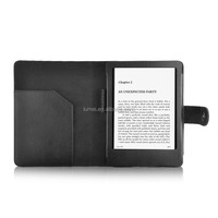 wallet case for kindle 2014 buckle pu leather case with reading light