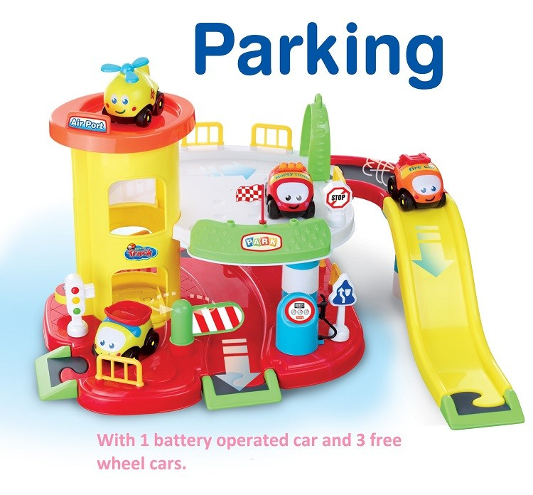 2017 middle-class children baby toy car parking lift