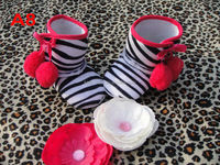 2014 Newest soft baby zebra sole boot -IN STOCK/ NO MOQ