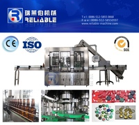 Automatic Glass Bottle Carbonated Energy Drink Filling Machine