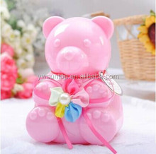 Fancy lovely bear shape plastic box gift boxes wholesale