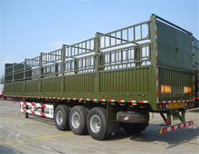 Brand new 3 axle box wagons trailer fence semitrailer stake semi trailer