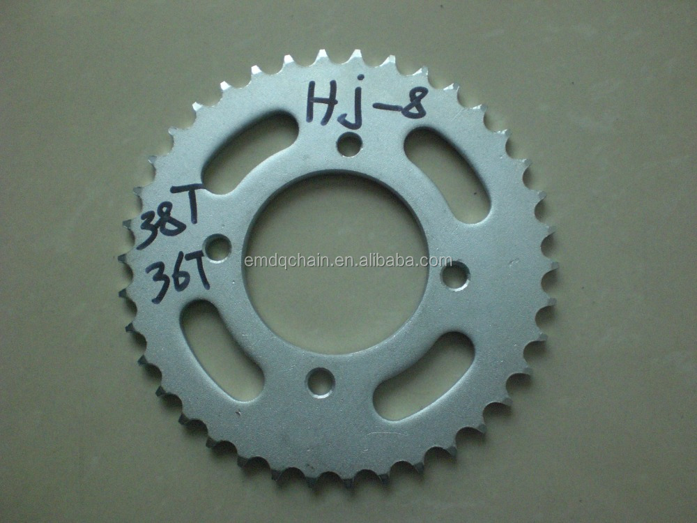 Egypt market best selling HJ-8 36T/38T Motorcycle Drive Chain and Sprocket Set Kit