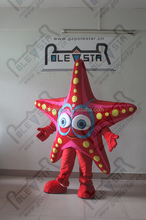 red fish star mascot costumes hand make complex cartoon starfish costumes
