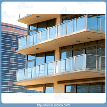 Aluminum handrail / glass railing for balcony / porch