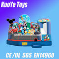 Mickey theme moonwalk inflatable children air bounce kids bounce house combos
