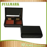 Home decoration wooden jewelry box with straws