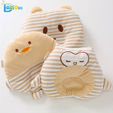 100% Cotton Baby Pillow Safety Nursing Round Pillow for Infant