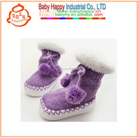 MOQ 72 /mix 6 COLOR winter baby boots crochet baby shoes