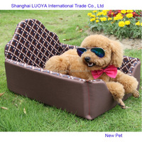 Custom made attractive fashion coffee summer pet bed fluffy dog bed