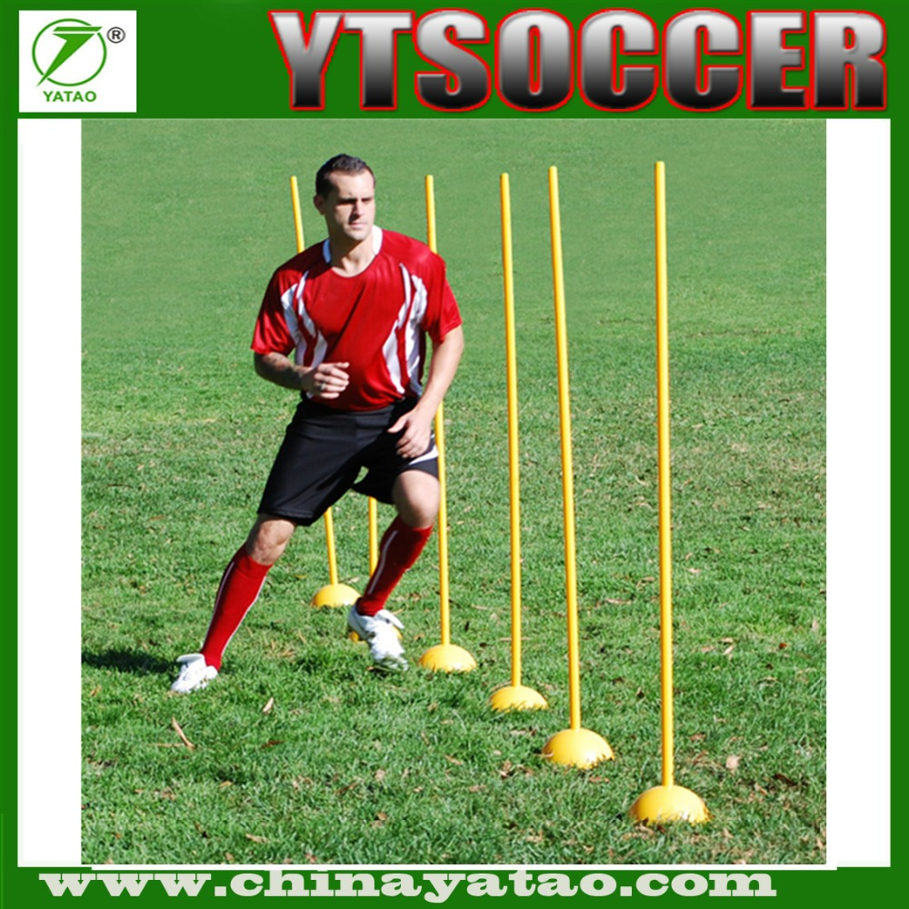 Agility soccer training equipment coaching stick pole with base