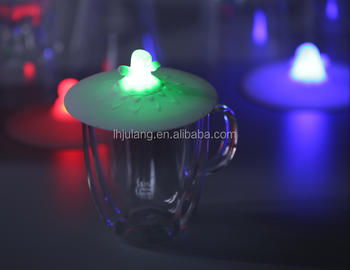 NEW arrival LED shining silica gel cup cover for bar