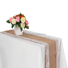 12*108inch Burlap Lace Hessian Table Runner Jute Country Outdoor Wedding Party Decoration