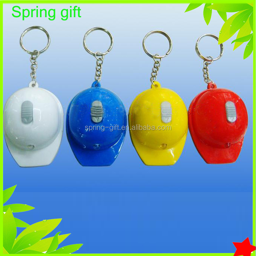 3 in 1 helmet shape led keychain /casque cap bottle opener key chain