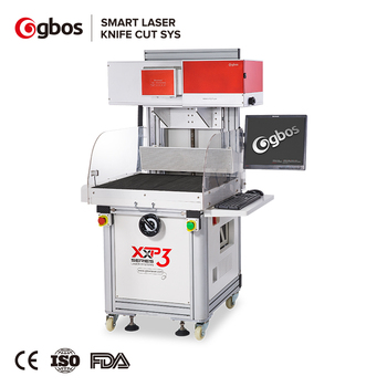 Gbos Jeans Denim Garments Leather Patch Logo Label Laser Engraving Machine Laser Printing Machine
