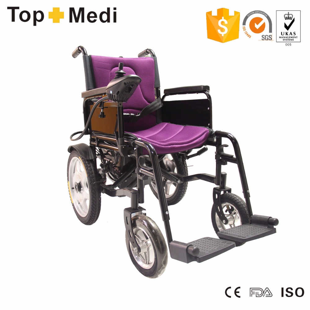 Cheap price handicapped used folding electric wheelchair for the disabled