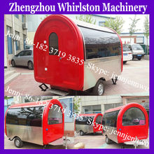 outdoor food trolley carts for sale/trailer for selling ice cream/juice/crepe/bubble tea