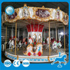 Fairground LED decorated amusement kid carousel horses for sale
