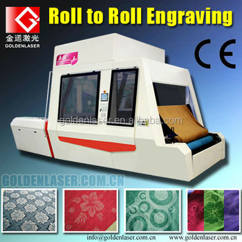 roll to roll laser engraving machine for textile
