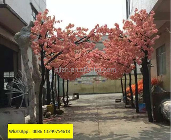Outdoor Decoration Wedding Flower Arch With Pink Artificial Cherry Blossom Tree