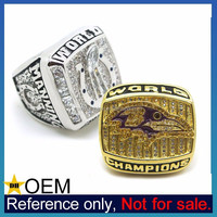 Alibaba China Wholesale Bespoke Memento Rhinestone Champion Ring
