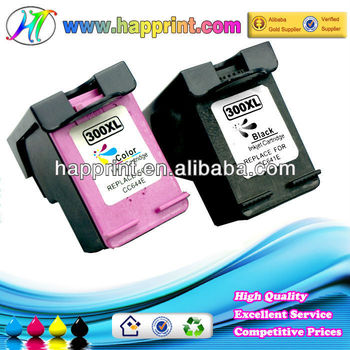 Remanufactured compatible ink cartridge for HP 300XL Black and Color ( CC641E CC644E )