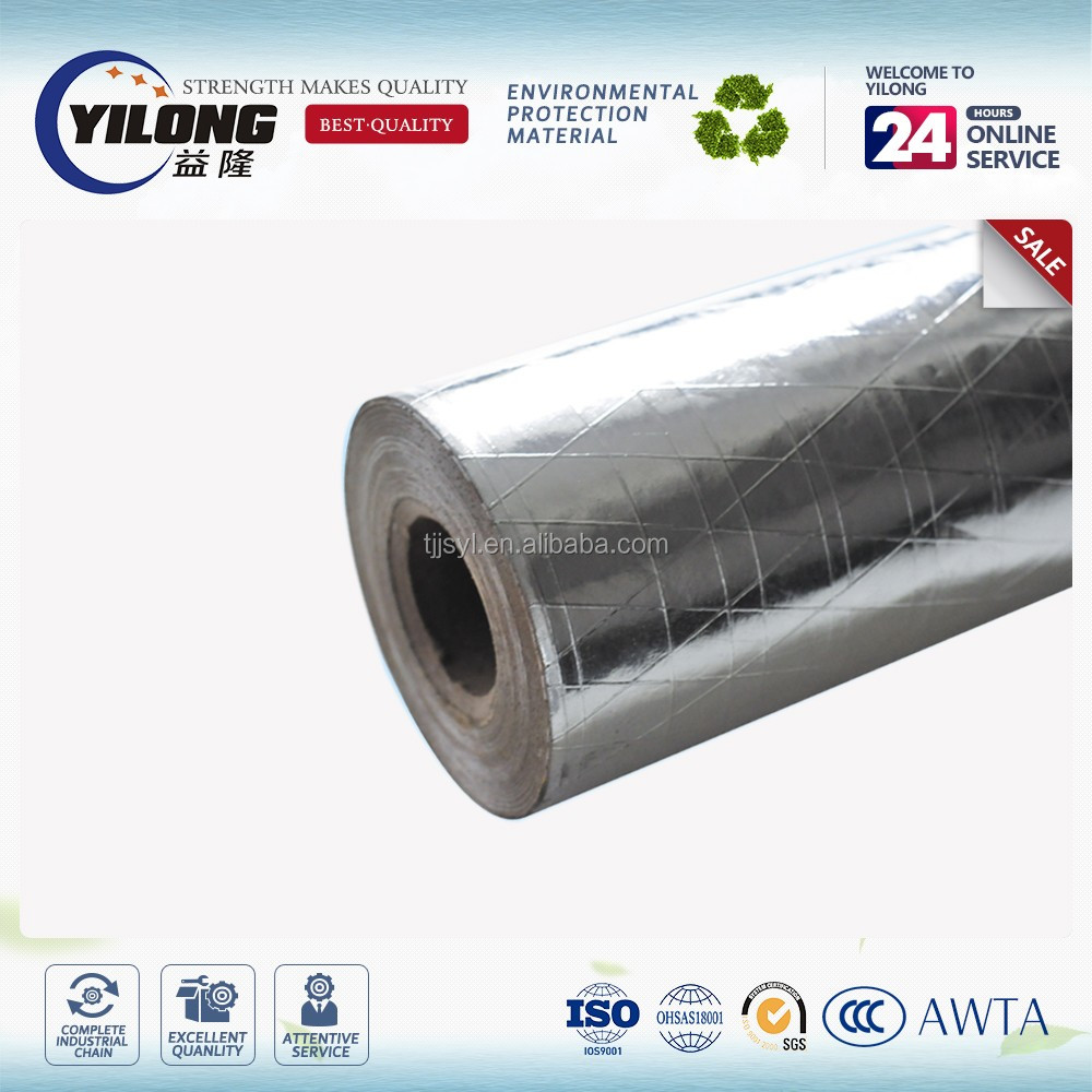 Heat reflective aluminum foil fabric wall insulation material