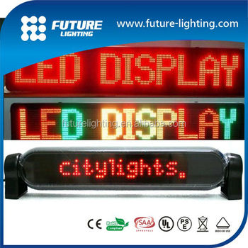 Indoor 7x80 dots digital led multi color Bus led display board china xxx video