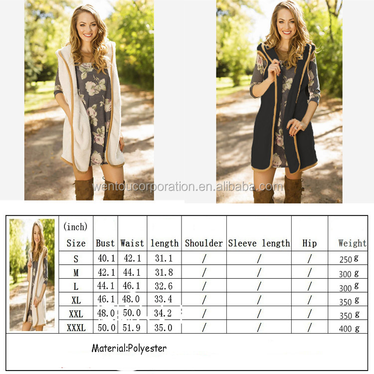 Wholesale Personalized Monogram Long Women's Faux Fur Hooded Vest