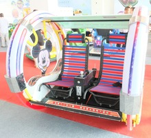 MICKEY leba BUS amusement swing machine park rides indoor playground coin operated FOR HOT SALE