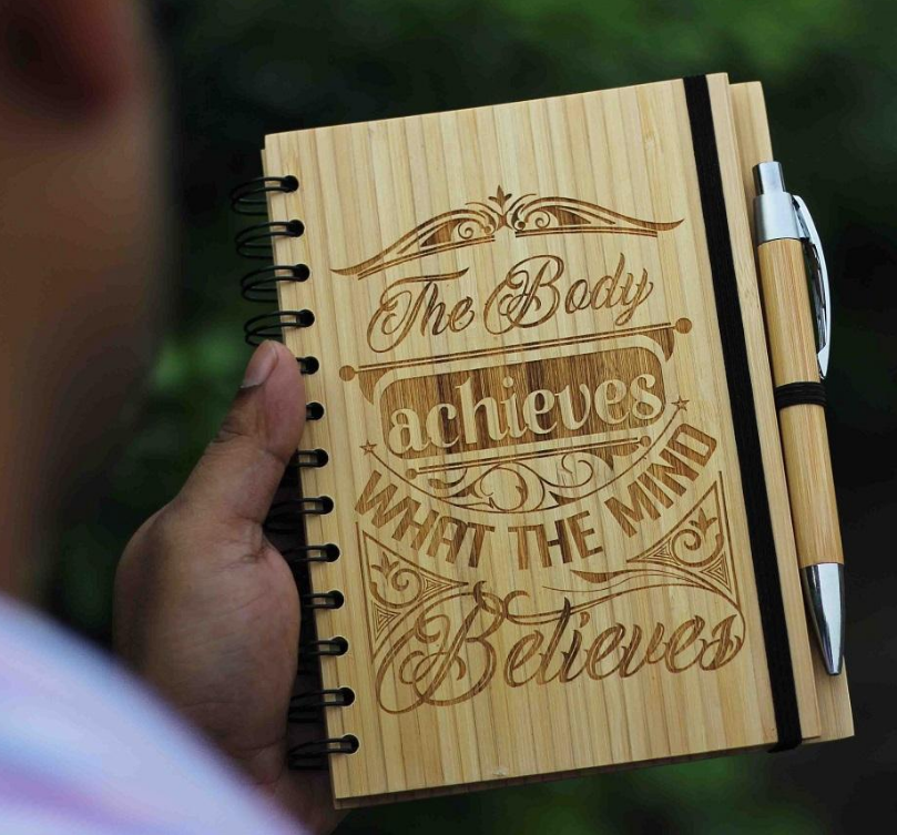 Popular trend travel wooden design personalized logo diary