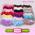 New arrival cute baby chiffon ruffle bloomer with bowknot infant baby diaper cover