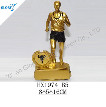 Wholesale High Quality Runner Statued Resin Sculpture