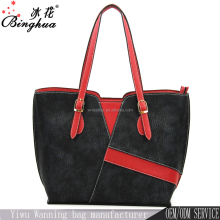 A-206 Guangzhou Leather Bag Exporter Supply Women OEM Design Bali PU Leather Tote Bag
