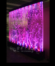 public indoor decoration led acrylic water bubble wall panel