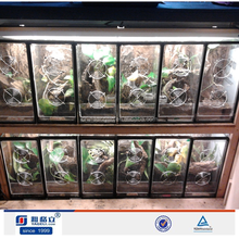 Yageli China OEM handmade customized snake figure acrylic display case/pet cages/reptile display case acrylic with lid Wholesale