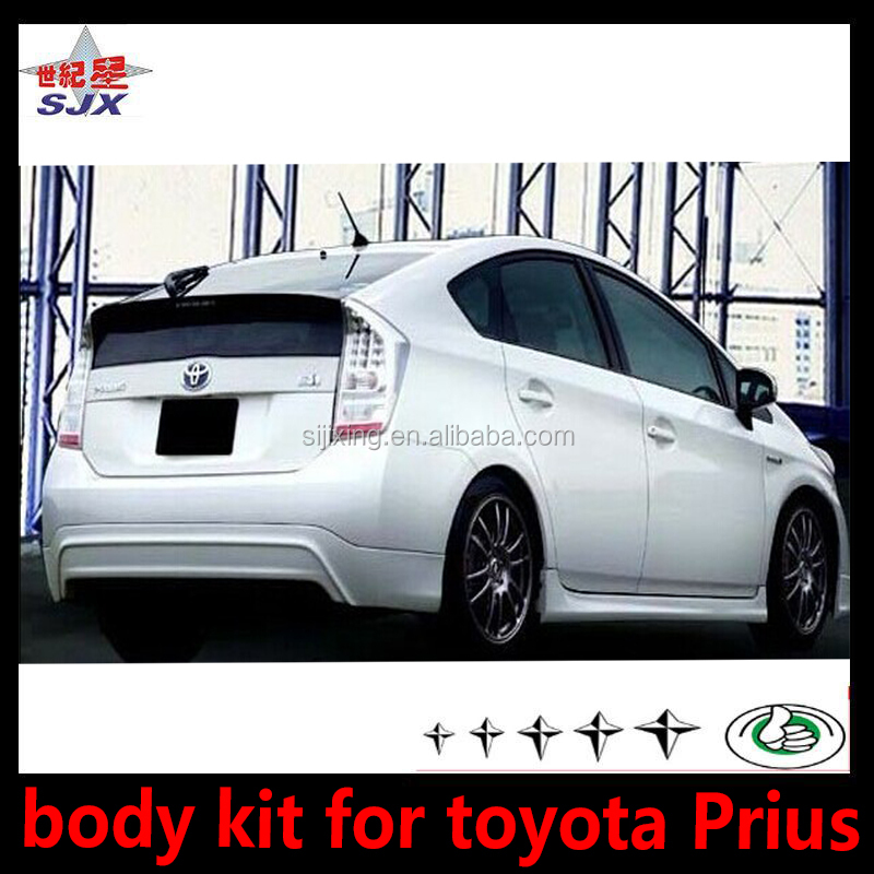 For toyota Prius 2012 accessories black pp material auto parts front lip side skirts rear lip