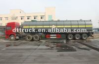 DTA 2/3/4-axles lined PE chemical aicds tanker Trailer for Hydrochloric acid HCl Sodium Hypochlorite NaCIO hydrofluoric acid HF/